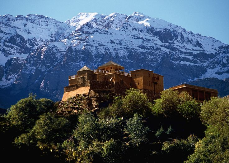 Kasbah du Toubkal, Morocco. Nestled in Morocco's High Atlas Mountains. Spectacular view and an easy commute to Marrakech
