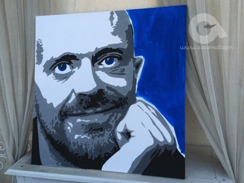 Il ritratto Pop Art del cantante Max Pezzali 883 è dipinto a...