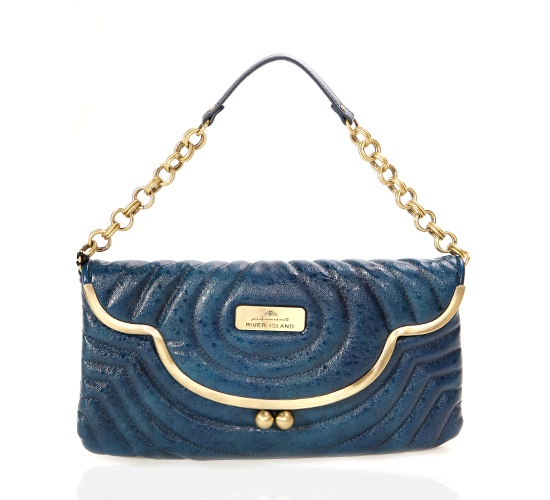 River Island Blue Clutch on glamouronthego.co.uk
