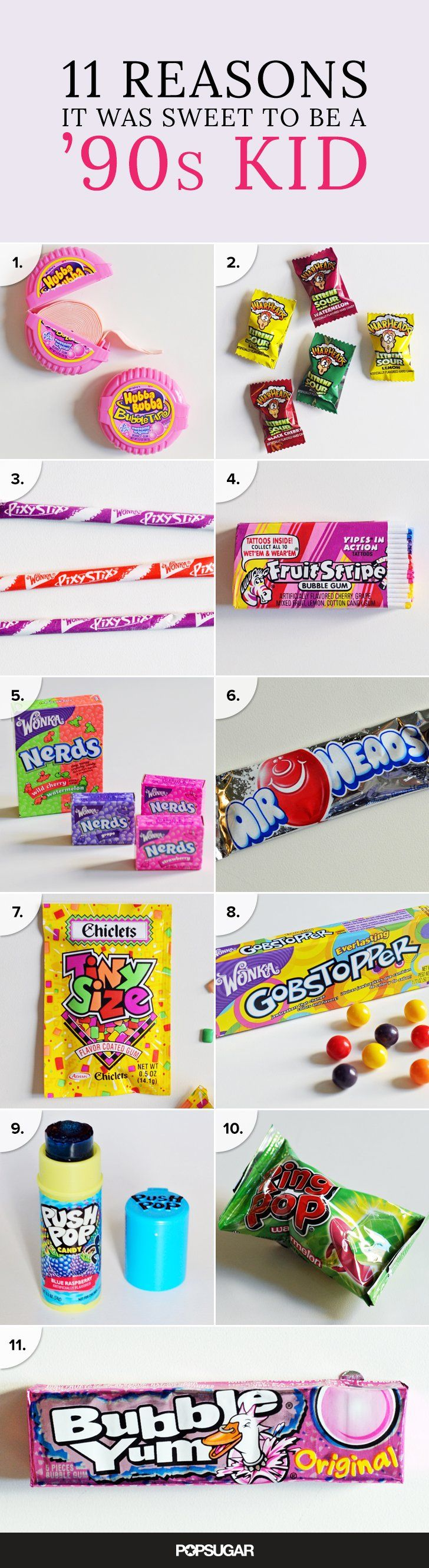 '90s kids know what's up when it comes to candy! If this doesn't make you feel nostalgic, we're not quite sure what will.