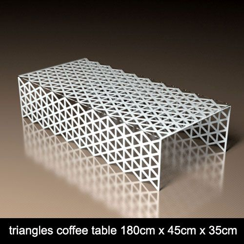 Triangle Pattern designer coffee table from Lace Furniture