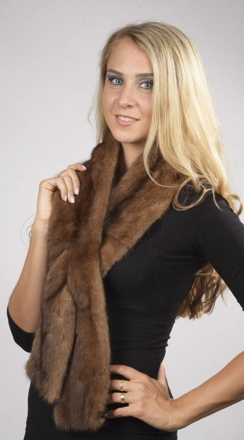 Scandinavian mink fur scarf  www.amifur.co.uk