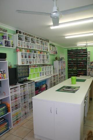 OMG, check out this craft room, it is gorgeous....