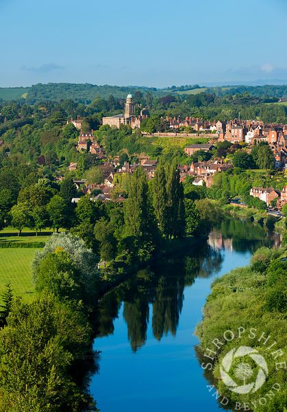 The town of #Bridgnorth and River Severn seen from High Rock, #Shropshire, England.