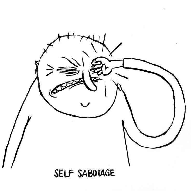 DAY 19 of Karo Rigaud's 2016 illustrated advent calendar: Self Sabotage…