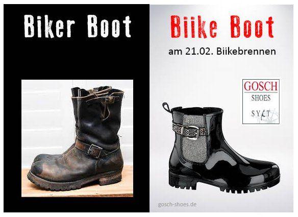 Am 21. Februar ist Biikebrennen. Jetzt die passenden Gummistiefel finden bei gosch-shoes.de #gosch #biike #gummistiefel #sylt