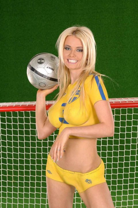 Sweden Fifa Body Paint