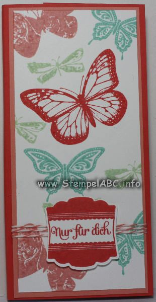 Best of Butterflies Stampin´UP! Kellnerblock