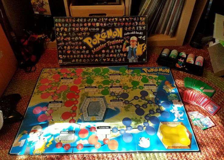 Contains: 36 Blue 41 Green 63 Pink 26 Red 6 Starters 6 Ash Figures 53 Event 54 Item 3 Rivals Box, insert, and board are quite damaged (corners torn and the board has rips in the bends) no manual | eBay!