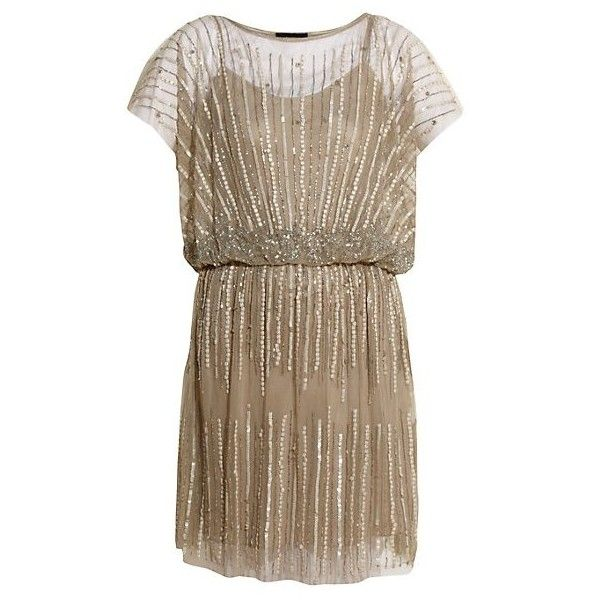 Aftershock Boutique Grey Sequin Domino Dress ❤ liked on Polyvore featuring dresses, flapper, vestido, flapper style dresses, flapper inspired dress, sequin flapper dresses, grey sequin dress and sequined dresses