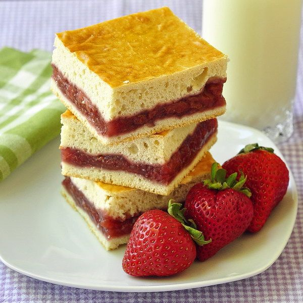 Strawberry Cobbler Squares - tender cobbler pastry in  hand-held desserts with an easy and delicious strawberry filling; perfect for summer picnics.
