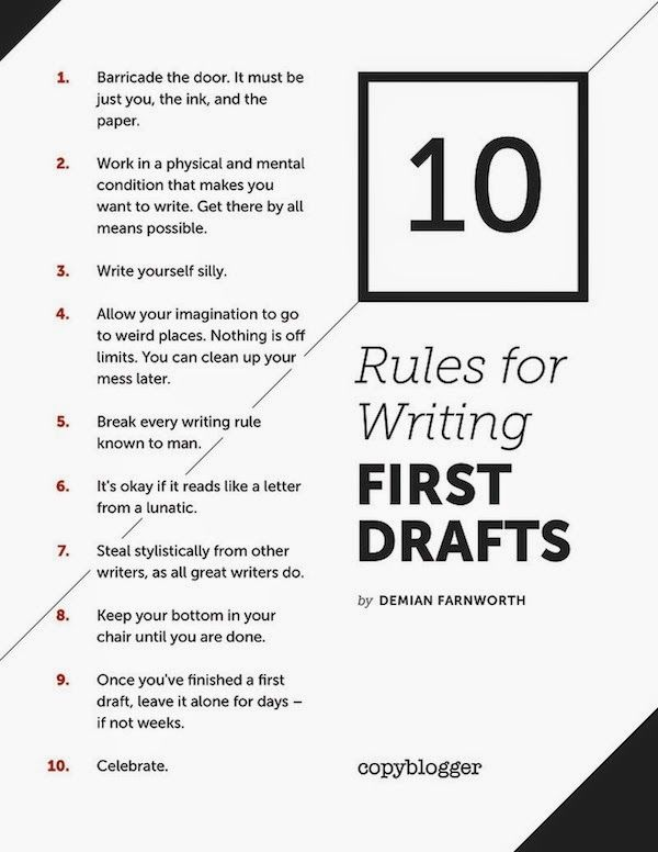 the process of writing a blog post is different for everybody. These are some simple first draft tips for writers in school or bloggers.