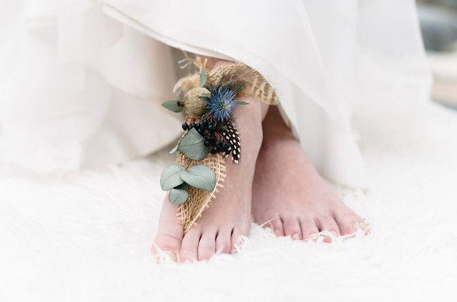 wunderschöne Boho Instpiration zum schlichten bohemian Brautkleid mit Tüll (www.noni-mode.de - Foto: Sandra Hützen)