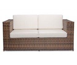 sofa em fibra sintetica para sacada, varanda ou churrasqueira com tecido impermeavel. SOFÁ BLOCO ARGILA 2 LUGARES. Neomobilia. https://br.pinterest.com/pin/671247519431928879/?lp=true