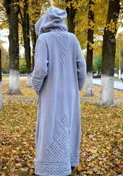 """Верхняя одежда ручной работы. Длинное вязаное пальто""""Арвен"""". Barsukova Olga - author's knitting. Интернет-магазин Ярмарка Мастеров."""