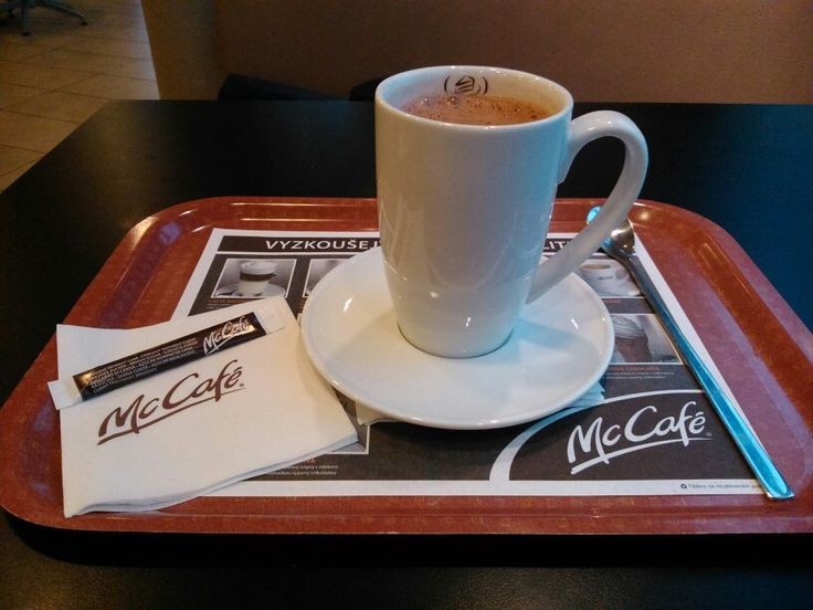 Hot chocolate in McCafé