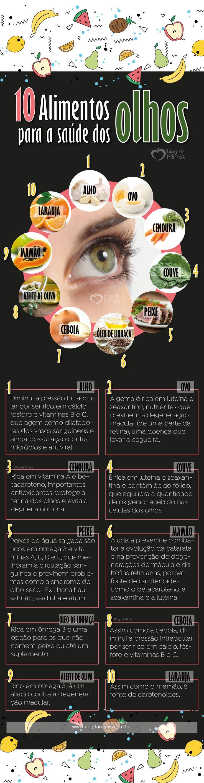 Alimentos para a saúde dos olhos - Blog da Mimis #alimentos #olhos #bomparaosolhos #blogdamimis #dieta