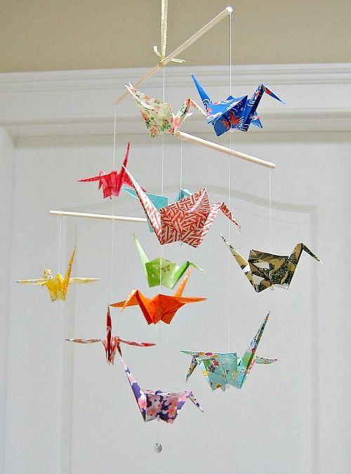 Penelope Home - origami bird mobile