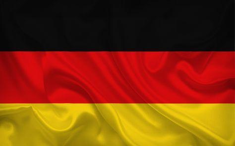 Herunterladen hintergrundbild deutsche flagge, deutschland, seide, flagge von deutschland