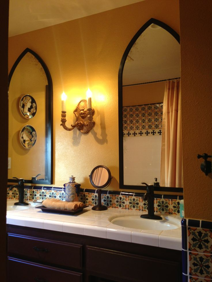 Spanish bathroom by Killeen Assoc in San Luis Obispo, CA