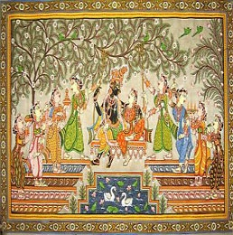 Pattachitra  The patachitras of Orissa, INDIA are icon paintings that include the wall paintings, manuscript painting, palm-leaf etching, and painting on cloth, both cotton and silk. This art of painting on cloth can be traced back to the establishment of the shrine of Lord Jagannath at Puri in Orissa.