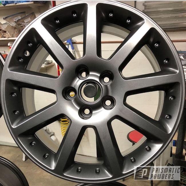 Powder Coated Wheels In Ultra Black Chrome | Powder & Colors