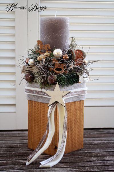 :::::: Adventsgesteck XL :::::: von :::::::: Blumerei Berger :::::::: auf DaWanda.com SEHR SCHÖN