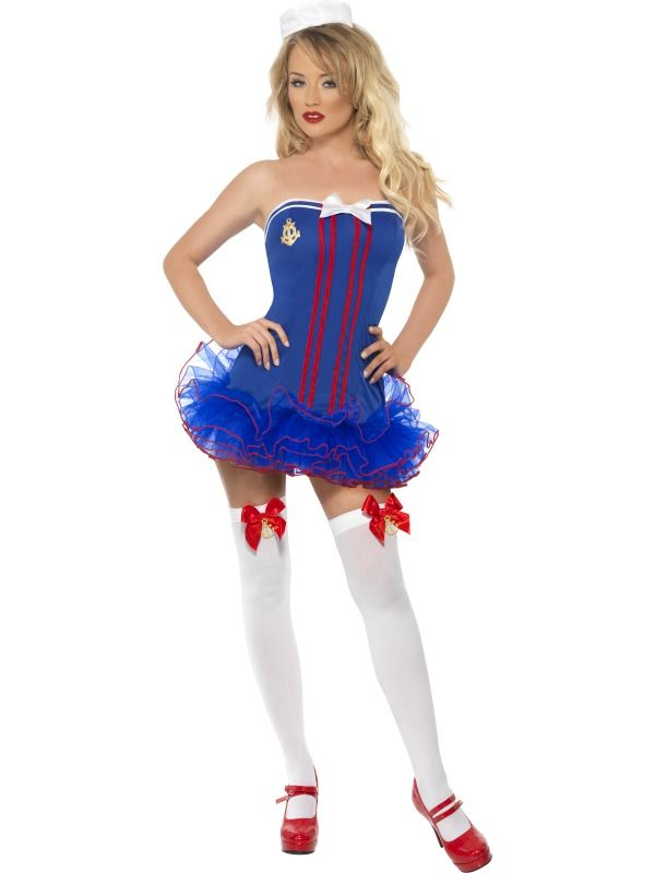 Fever Tutu Sailor Costume £25.99 : Direct 2 U Fancy Dress Superstore. http://direct2ufancydress.com/fever-tutu-sailor-costume-p-12226.html
