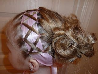 Cute little girl hairstyles, although I can't imagine having the time or Laila having the patience for me to do any of them!