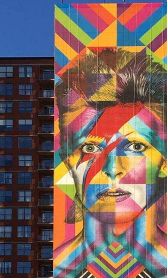 Mural in Jersey City,  New Jersey dedicated to David Bowie.