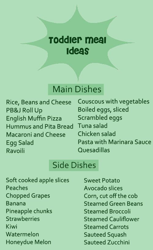 Helpful toddler foods