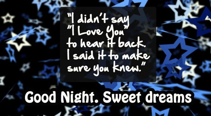 I love you – Good Night #goodnight #gn #quotes