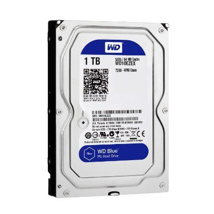 WD Blue 1TB Desktop Hard Disk Drive - 7200 RPM SATA 6 Gb/s 64MB Cache 3.5 Inch: Computers & Accessories £42.98 to buy with free UK delivery.  Form Factor: 3.5 inch Depth:14.7 cm Height:2.54 cm Buffer Size:64 MB Device Type:Hard drive - internal Capacity:1 TB.