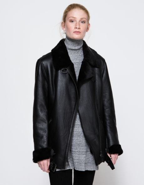 Chin Shearling Jacket | @andwhatelse