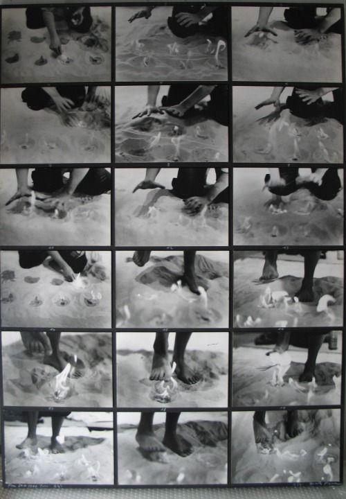 """Gina Pane, Le feu. 1971  Gina Pane, Feu, 24.11.1971 Paris (24"""")"""