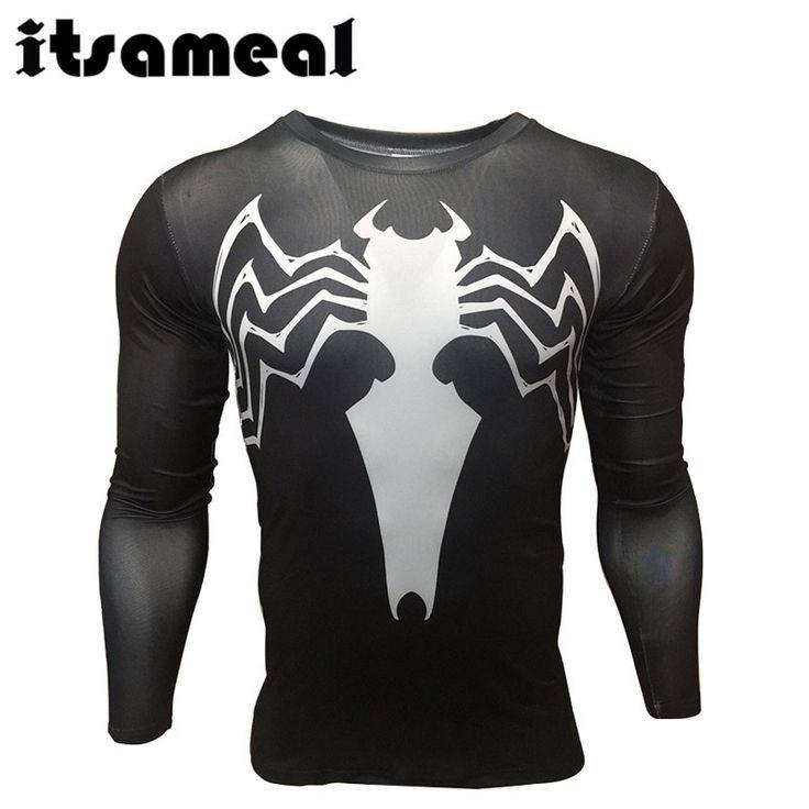 Spiderman lycra compresión camisa de los hombres 3d impreso camisetas raglan manga larga clothing hombre crossfit gimnasio tops hot 2017 en Camisetas de Ropa y Accesorios en AliExpress.com | Alibaba Group
