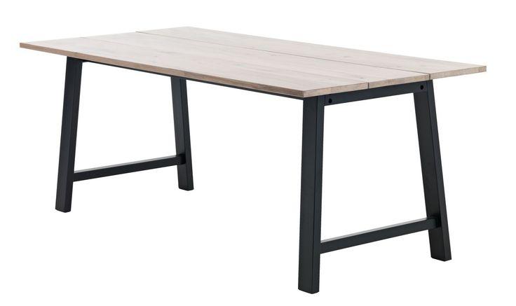 Jídelní stůl GADESKOV D190 dub/černá | JYSK
