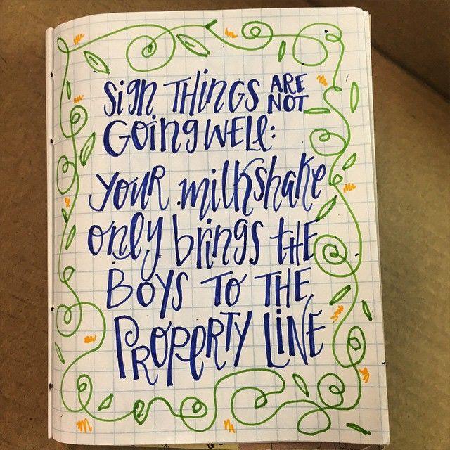 #natterdoodle   #handlettering #handdrawn #lettering #quote #qotd #saying #handwriting #inspiration  #doodle #karma #lyrics #jokes #quoteoftheday  #art #artist #handwritten #handmade #instagood #nofilter #instaquote #cursive #moderncalligraphy #kelis #milkshake #handmadefont #funny (at www.natterdoodle.com)
