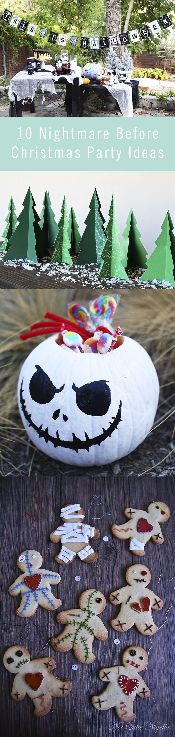 The best part of Nightmare Before Christmas is that it's festive from Halloween through the winter holidays. Whether you're celebrating in October or in December, our crafts and recipes will help you throw the perfect DIY Nightmare party.