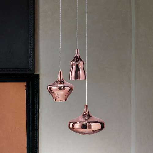 Studio Italia Design Nostalgia 3 Light Mulitpoint Pendant Light