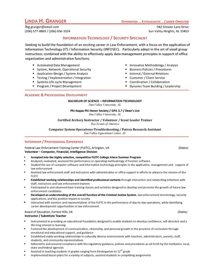 Best Firefighter Resume Ideas On Firefighter