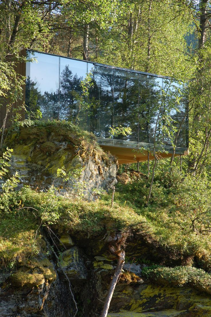 i like the exterior mirrored look especially as we are surrounded by trees