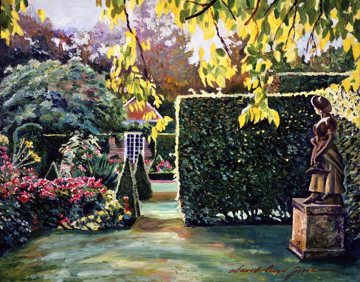 David Lloyd Glover (b.1949) —  Garden Statue,  2013    (900x706)