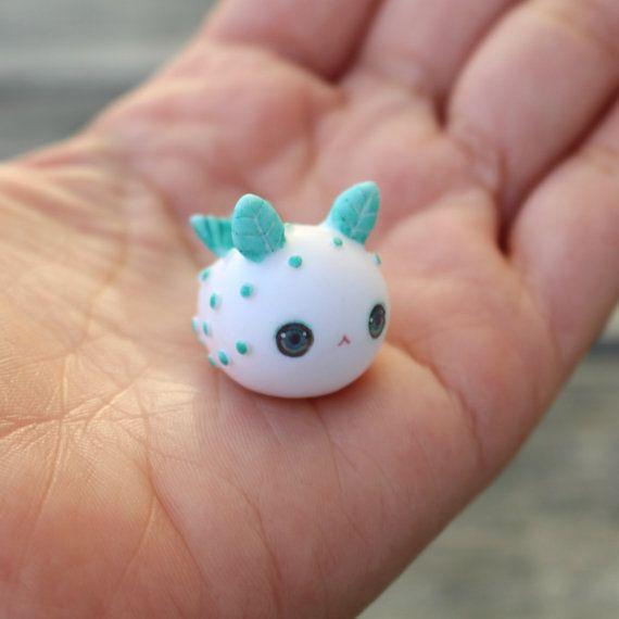 Little Sea Bunny Slug Figurine by TheLittleMew on Etsy