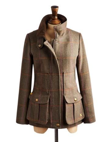 Joules Womens Tweet Jacket, Hardytweed.                     Set this country sports coat in your sights and capture true country style. Completely timeless, made to last after season. In rugged tweed and complete with all of the functional features and delightful details you've come to know and love. A true Joules classic.
