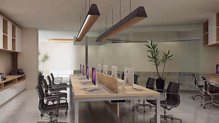 Interior Design   Office Project   Sarana Steel - Marketing Staff Working Space