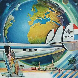 KLM - Royal Dutch Airlines. The Lockheed Super Constellation, but, there was never a  PH- with KLM following the country designation!  Pure advert!