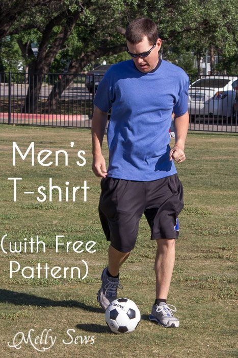 Mens T-shirt Sewing Pattern - Free Pattern! - Melly Sews This pattern is a size medium, which fits chest sizes up to about 38″ with some ease, and up to 40-41″ for men who like fitted t-shirts. This pattern is a newsletter subscriber exclusive.