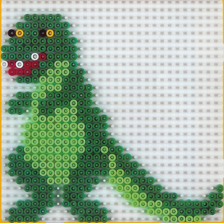 Dino hama beads by amelielac