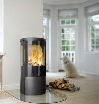 Hwam 3630 freestanding contemporary woodburning stove.
